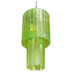 Green Murano Glass Chandelier by Leucos