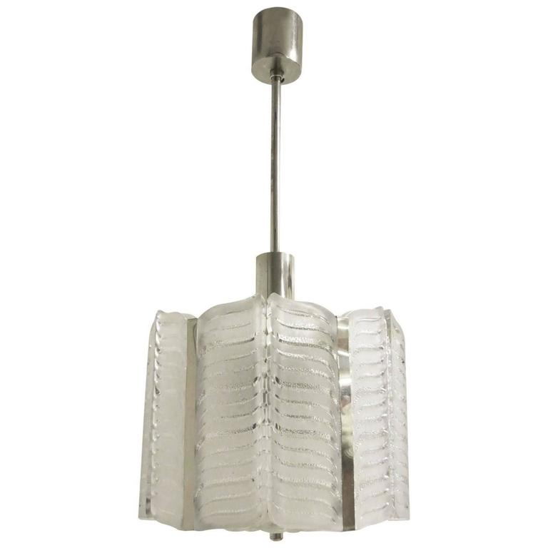 Frosted Glass Pendant by Kalmar