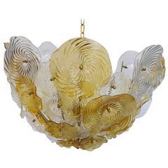 Italian Murano Glass Discs Chandelier