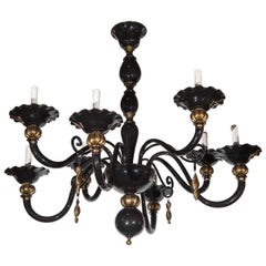 Black and Gold Venetian Chandelier