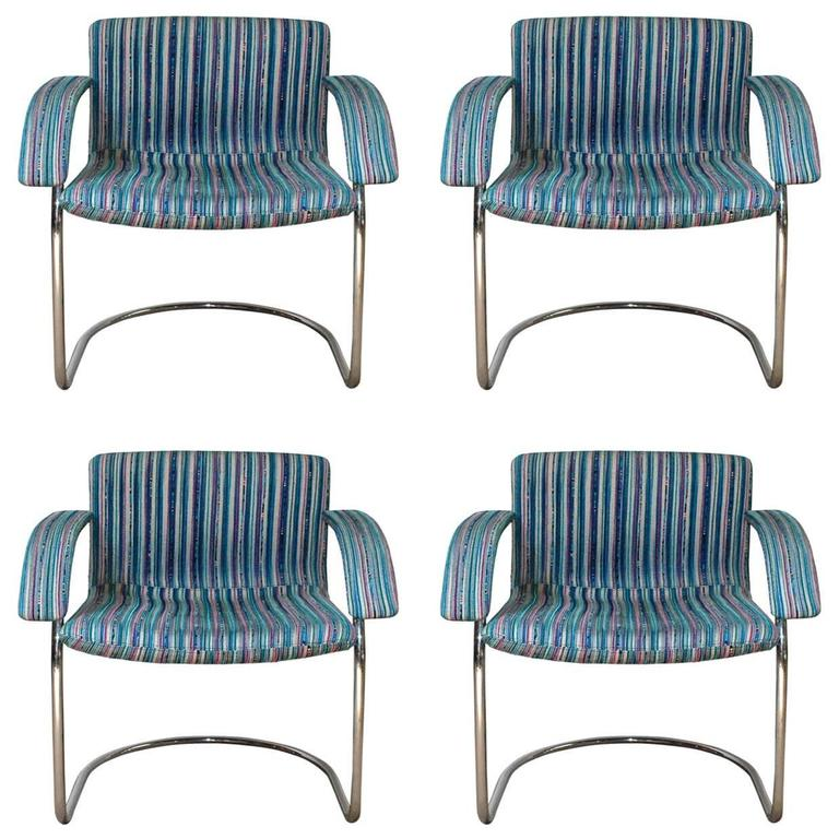 Set of Four Italian Mid-Century Chairs by Saporiti Italia