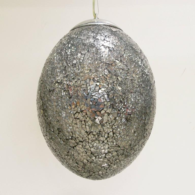 Modern Twelve Crackled Pendants by Fabio Ltd For Sale