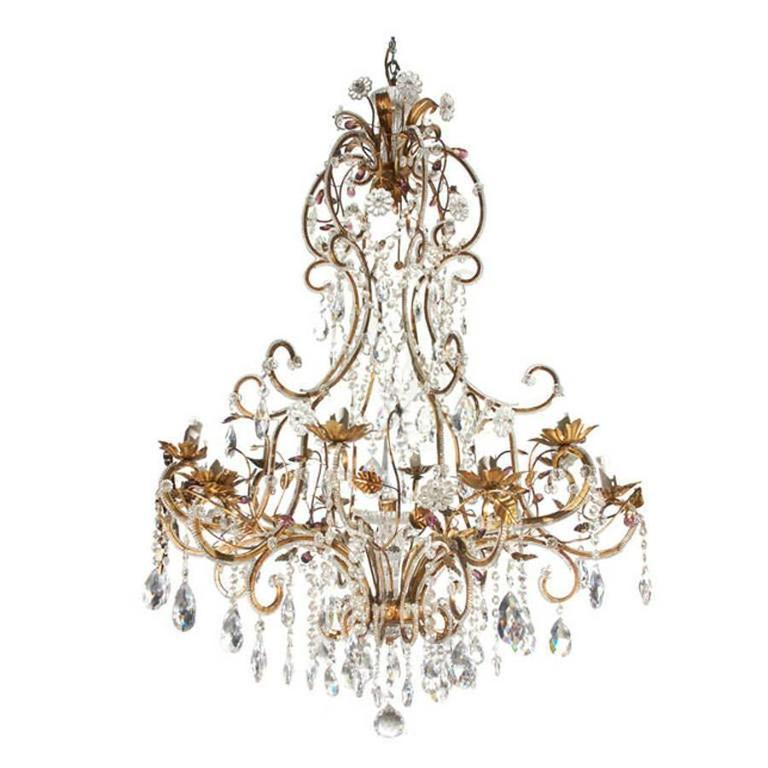Italian Traditional Florentine Gilded Chandelier at 1stdibs