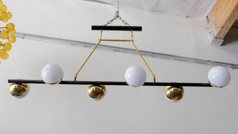 Mid-Century Modern Viale Murano Globes Chandeliers For Sale