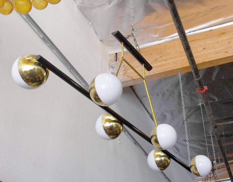 Italian Viale Murano Globes Chandeliers For Sale