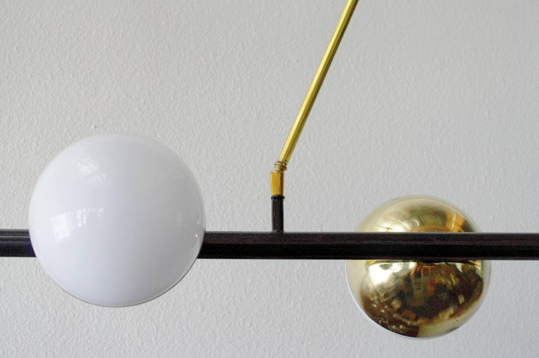 Contemporary Viale Murano Globes Chandeliers For Sale