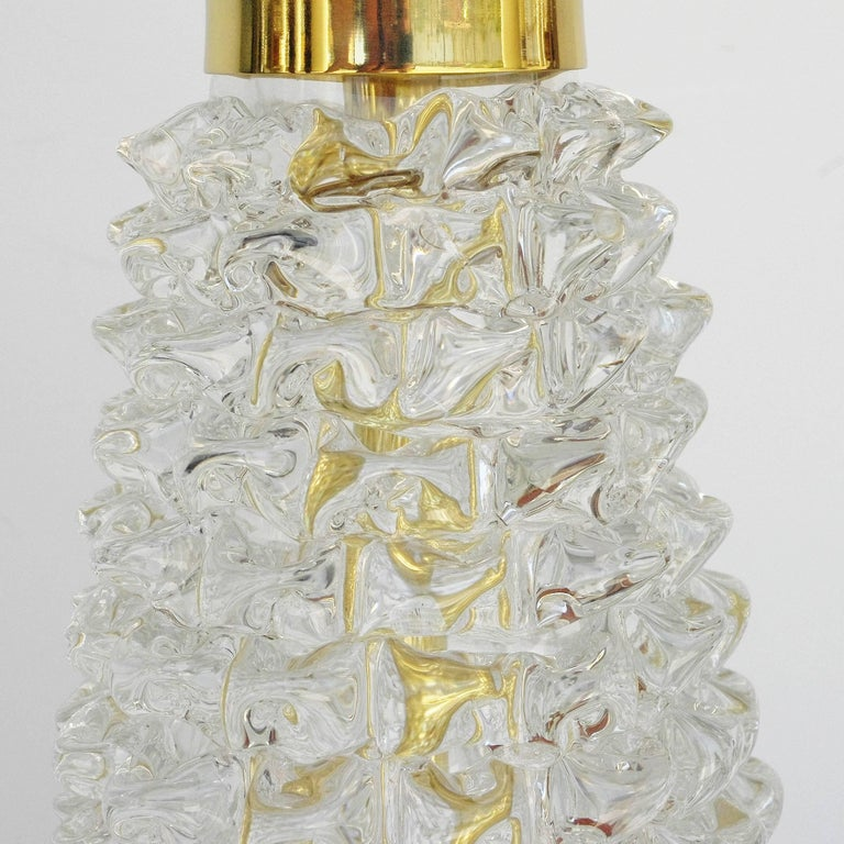 Italian Murano Rostrato Glass Table Lamps In Excellent Condition For Sale In Palm Springs, CA