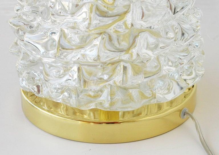 Contemporary Italian Murano Rostrato Glass Table Lamps For Sale