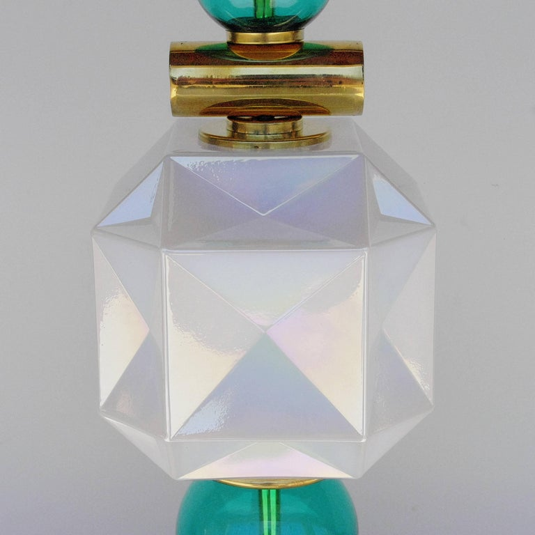 Italian Pair of Murano Table Lamps For Sale