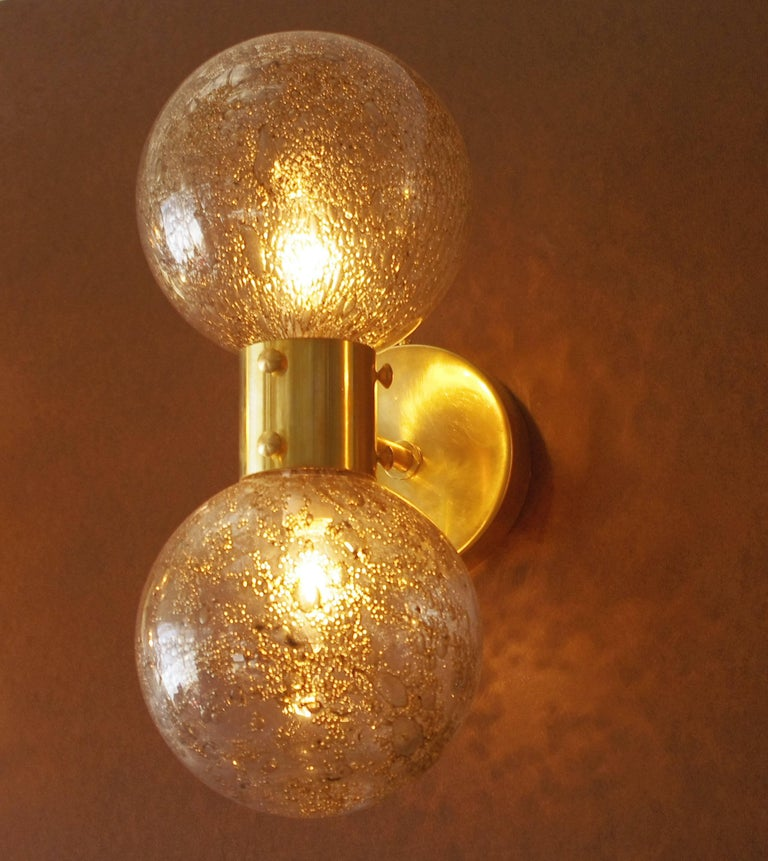 Contemporary Italian Wall Sconces : Set of Four Italian Modern Murano Glass Sconces For Sale at 1stdibs