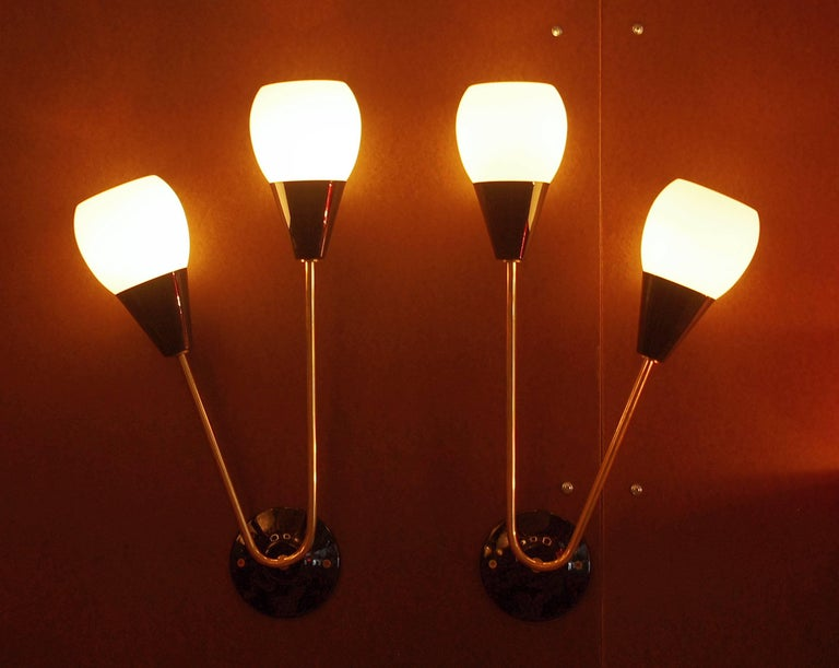 Three Pairs of Tulipano Sconces by Fabio Ltd For Sale 1