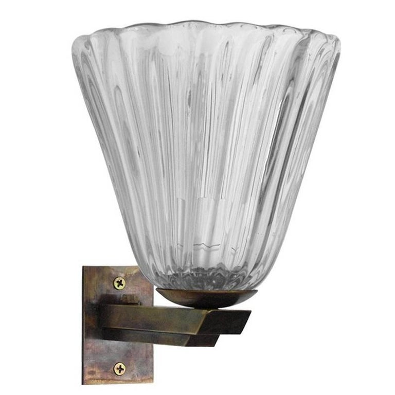 Italian Murano Glass Sconce by Barovier e Toso