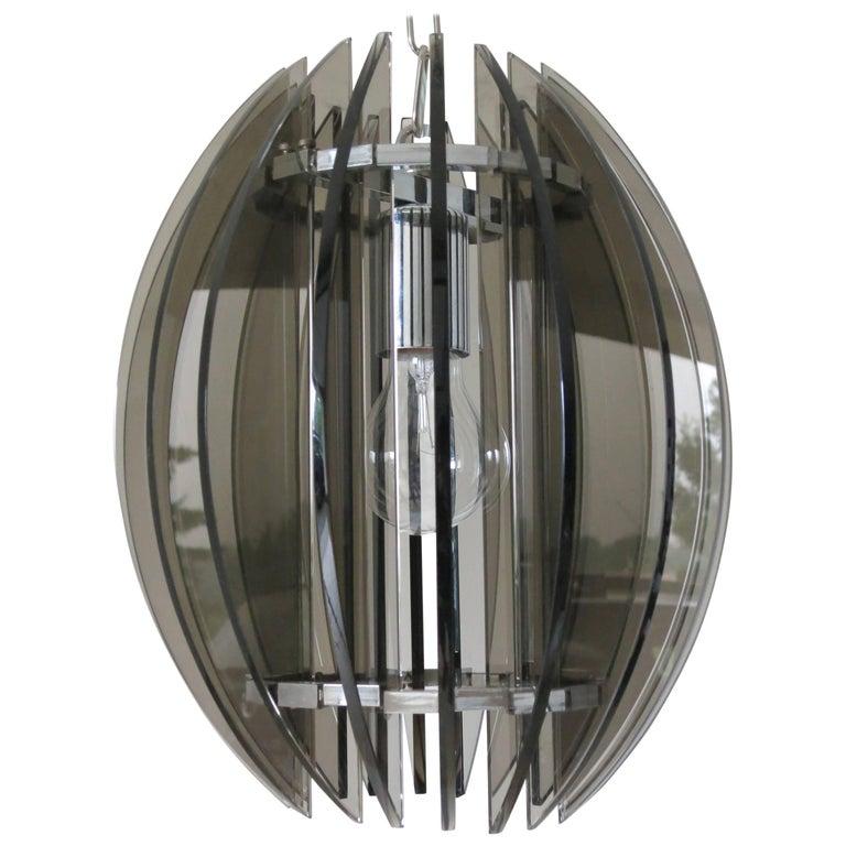 Smoky Glass Pendant by Veca