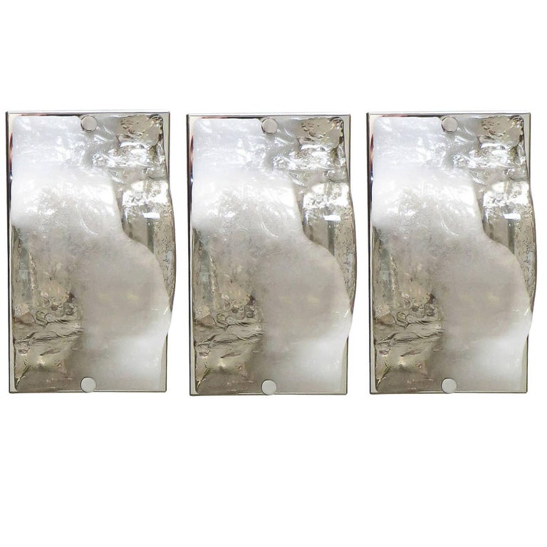 Italian Murano Glass Sconces by Carlo Nason for Mazzega