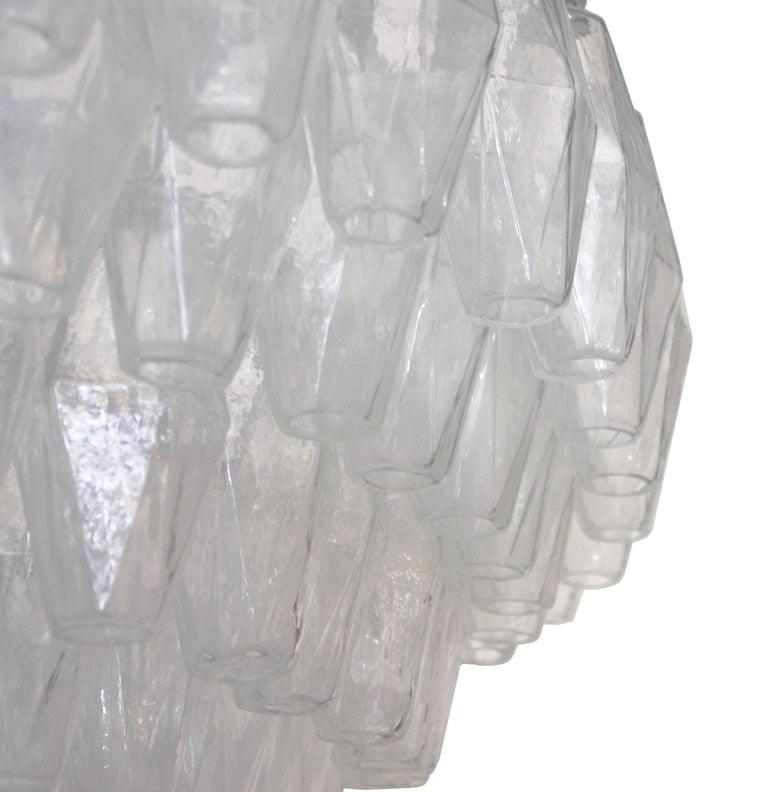 Murano Glass Poliedri Chandelier For Sale