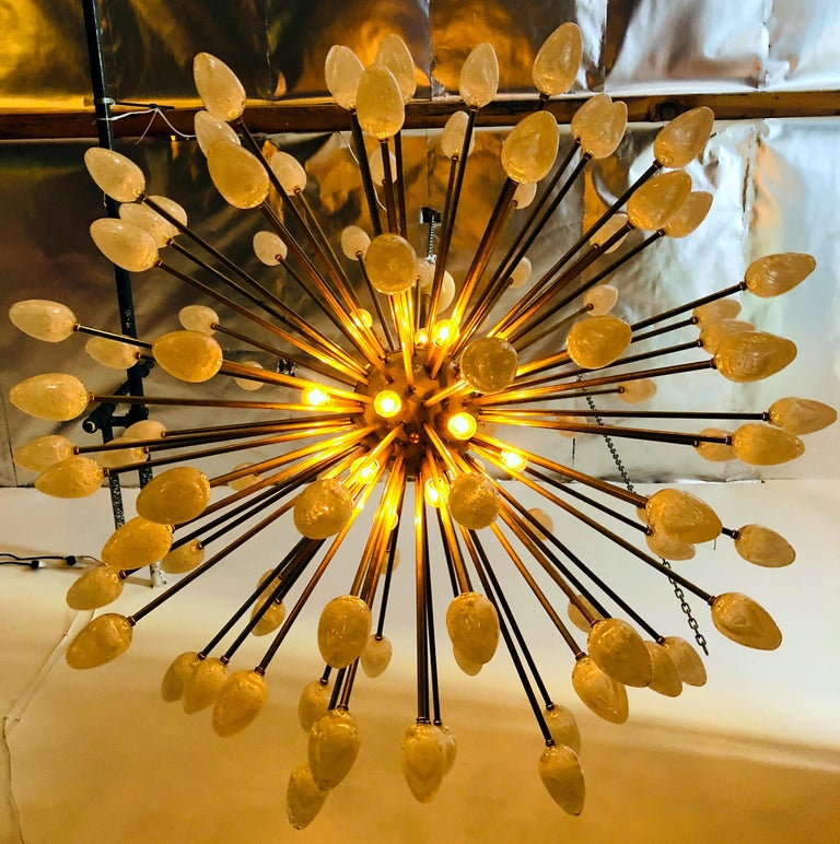 Uovo Sputnik Chandelier by Fabio Ltd In Excellent Condition For Sale In Palm Springs, CA