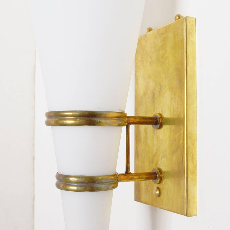 Set of Four Stilnovo Torch Sconces In Good Condition For Sale In Palm Springs, CA