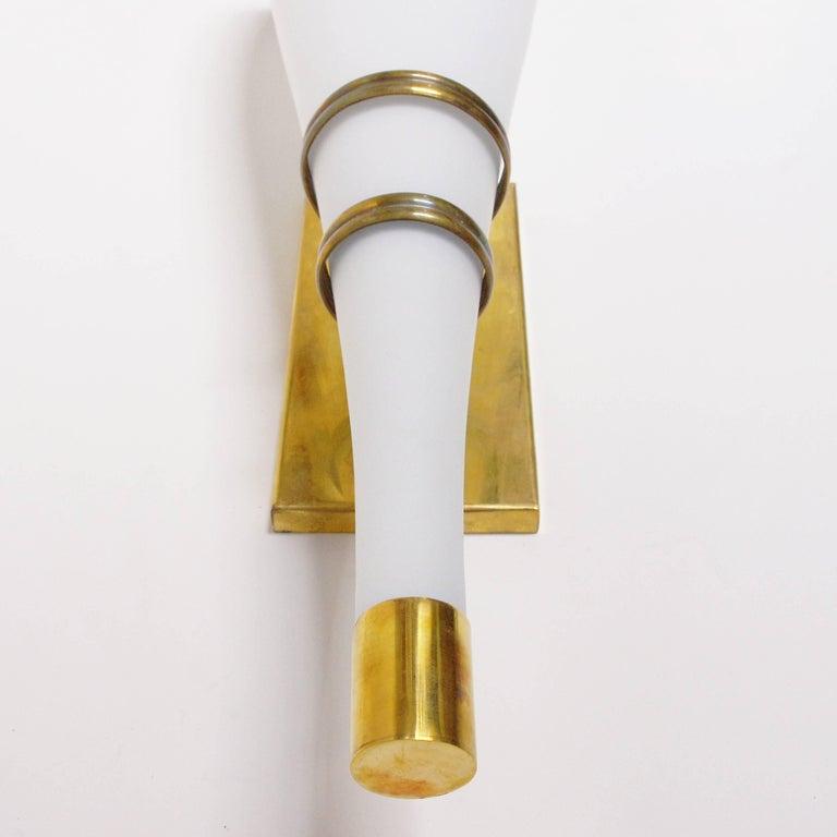 20th Century Set of Four Stilnovo Torch Sconces For Sale