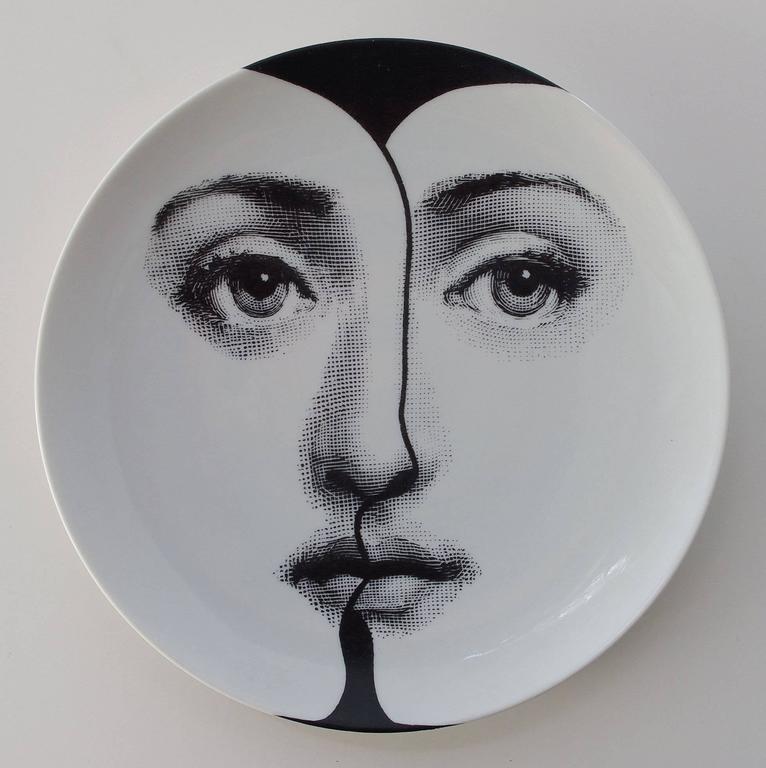 """Set of Four Piero Fornasetti """"Tema e Variazioni"""" Plates 3"""