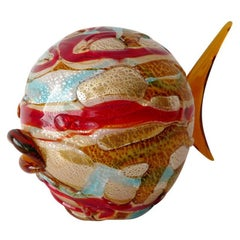 Multicolor Fish Sculpture by Maestro Camozzo