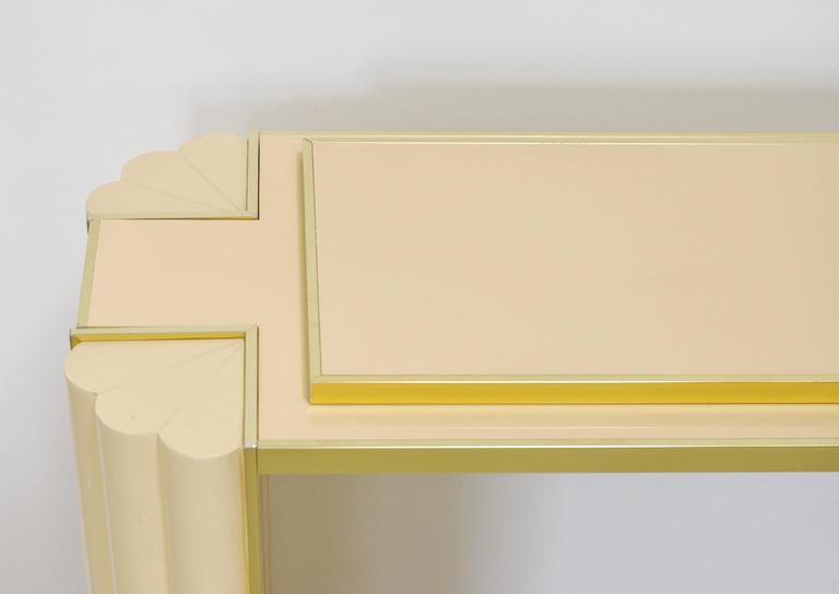 20th Century Lacquered Console Table by Alain Delon for Maison Jansen For Sale