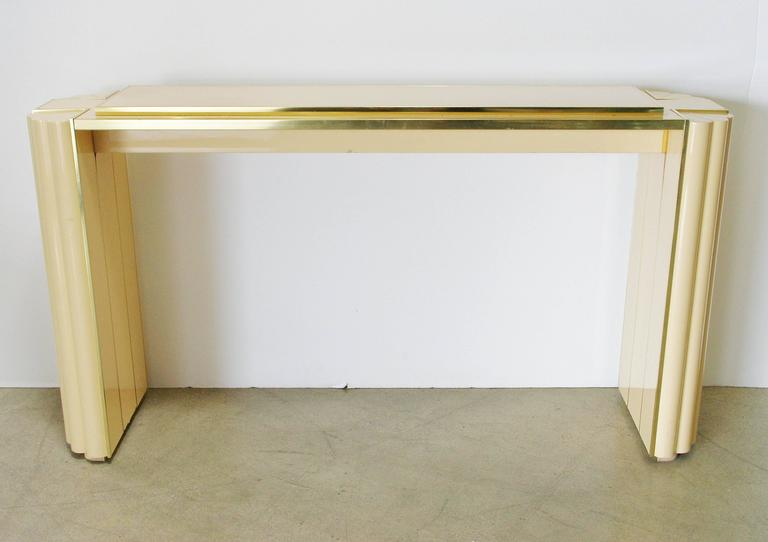 French Lacquered Console Table by Alain Delon for Maison Jansen For Sale