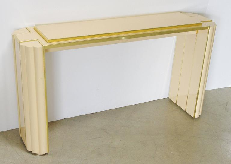 Lacquered Console Table by Alain Delon for Maison Jansen In Excellent Condition For Sale In Palm Springs, CA
