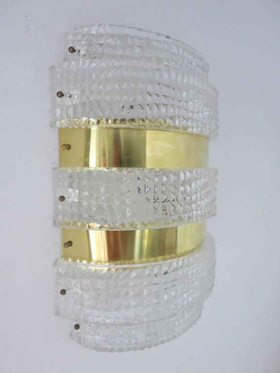Mid-Century Modern Eight Oversized Croc Sconces by Bavovier E Toso For Sale