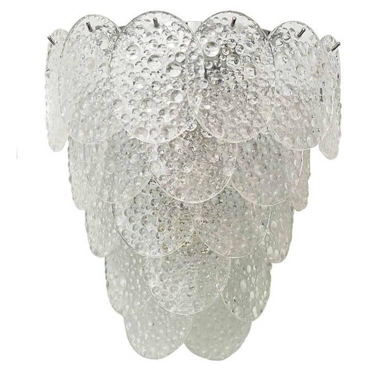 Italian Murano Bubble Glass Sconces