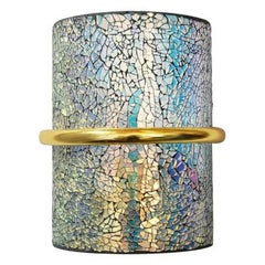Crackled Iridescent Glass Sconces