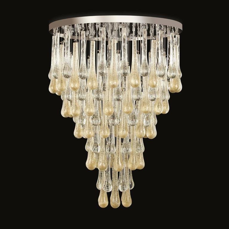 italian modern murano glass chandelier or flush mount for sale at 1stdibs. Black Bedroom Furniture Sets. Home Design Ideas