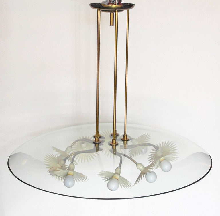 Mid-Century Modern Pietro Chiesa Chandelier for Fontana Arte For Sale
