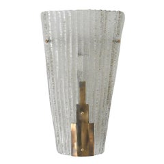 Single Art Deco Sconce by Barovier e Toso