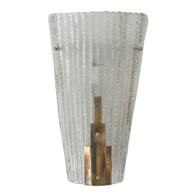 Italian Murano Graniglia Glass Sconce by Barovier e Toso
