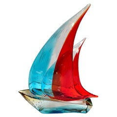 Murano Sailboat Double Sail by Sergio Costantini
