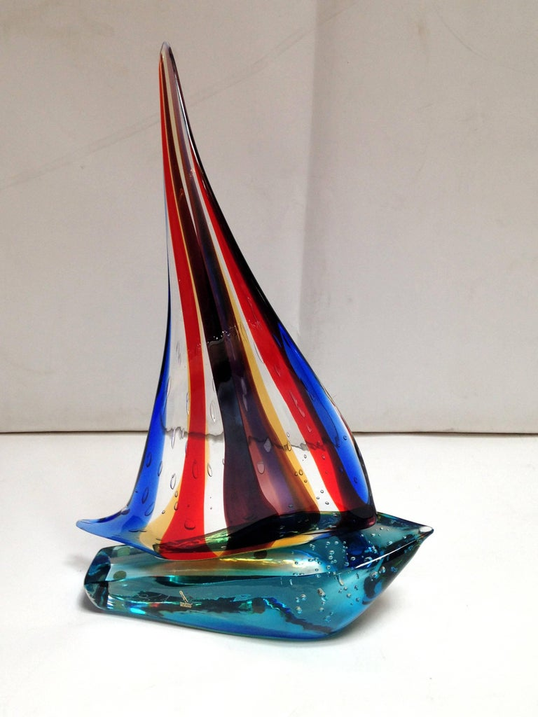Mid-Century Modern Sailboat Sculpture by Sergio Costantini For Sale