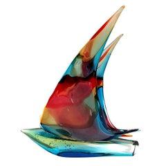 Murano Sailboat Double Sail by Sergio Costantini