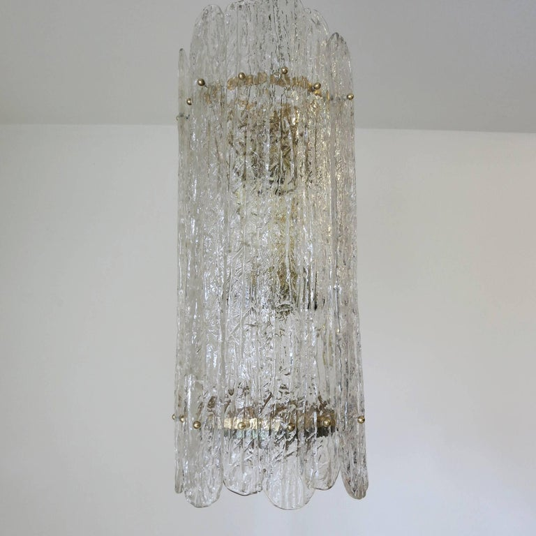 Mid-Century Modern Italian Vintage Murano Glass Pendant For Sale