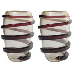 Italian Murano Glass Vases by Cenedese