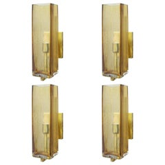 Eight Geometric Murano Sconces by Fabio Ltd