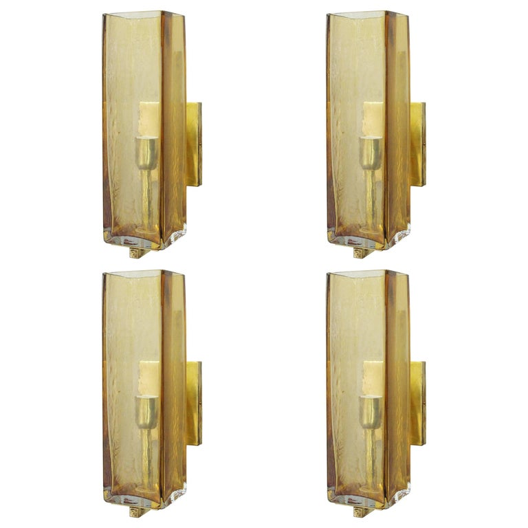 Eight Geometric Murano Sconces by Fabio Ltd For Sale