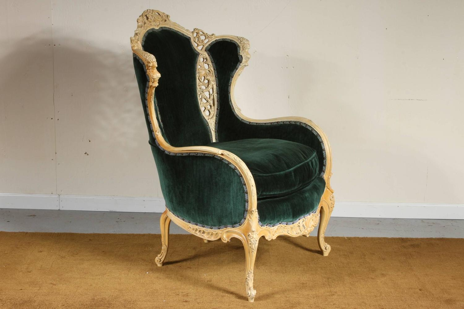 1920s Continental Parlor Chair For Sale At 1stdibs