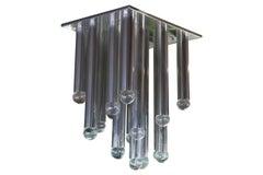 Monumental Custom Modern Aluminum Tube Chandelier