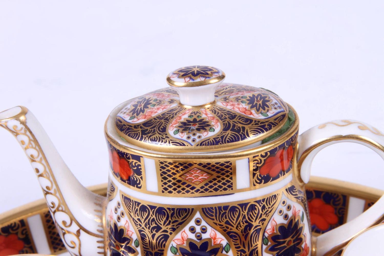 Royal Crown Derby Miniature Tea Set For Sale at 1stdibs