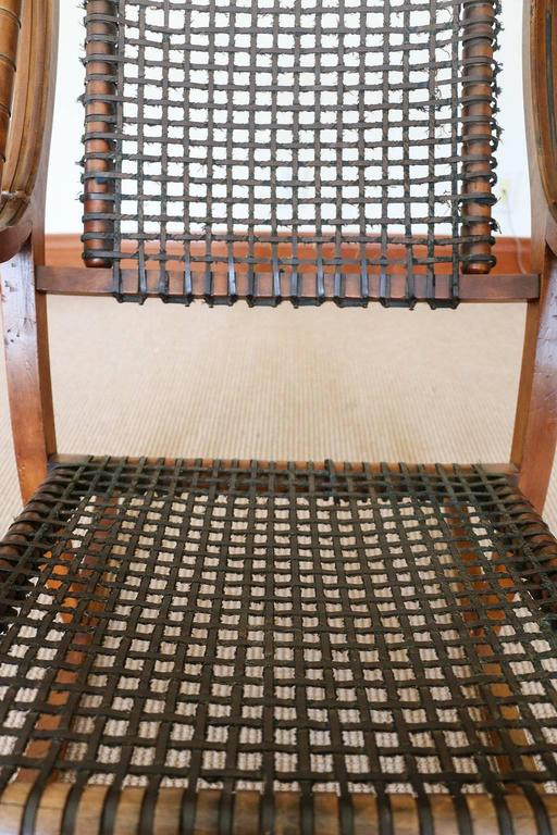American Rare George Hunzinger Rocking Chair with Patented Steel Webbing, 1869 For Sale
