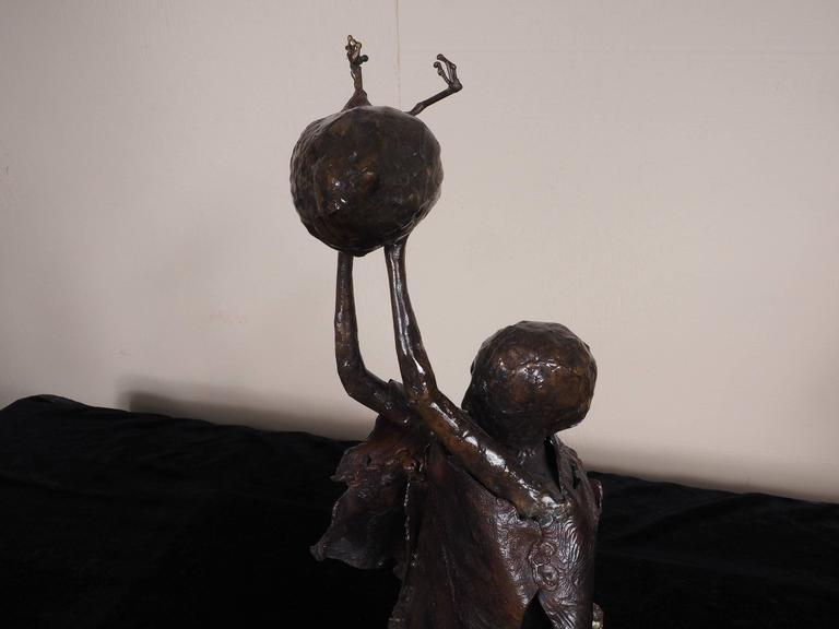 American Mid-Century Mother Goddess Steel Sculpture For Sale