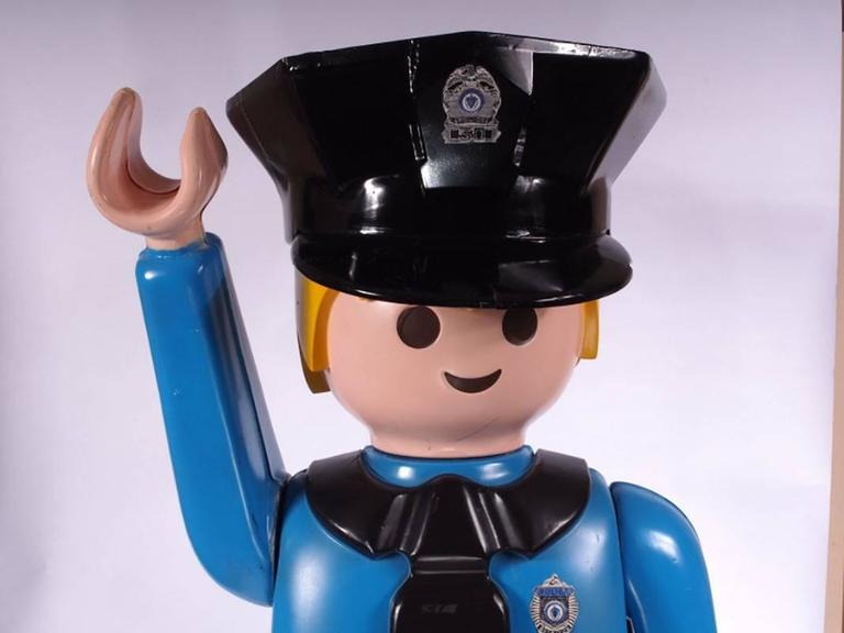 Rare And Monumental Playmobil Man Store Display For Sale