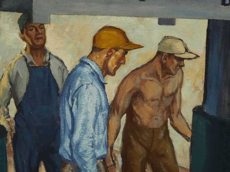 Robert Lynn Lambdin Bridgeport Brass Murals, Nine Panels 3