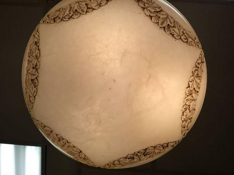 Neoclassical Substantial Alabaster Pendant For Sale