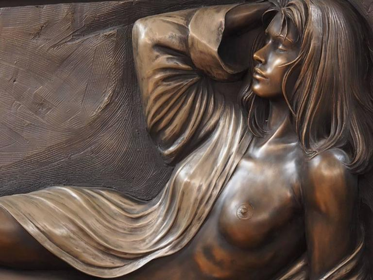 American Bill Mack, Large Bonded Bronze Relief  For Sale